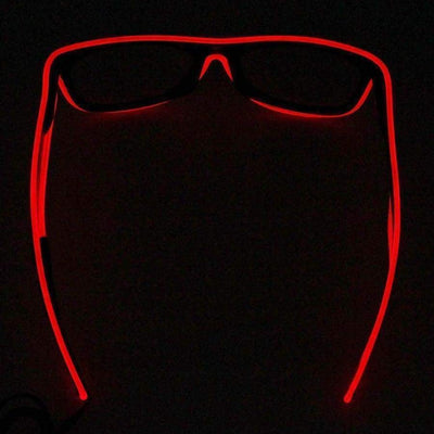 Glasses - Light Up LED Glasses - Red