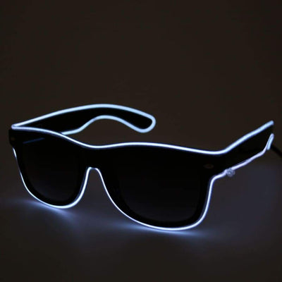 Glasses - Light Up LED Glasses - White