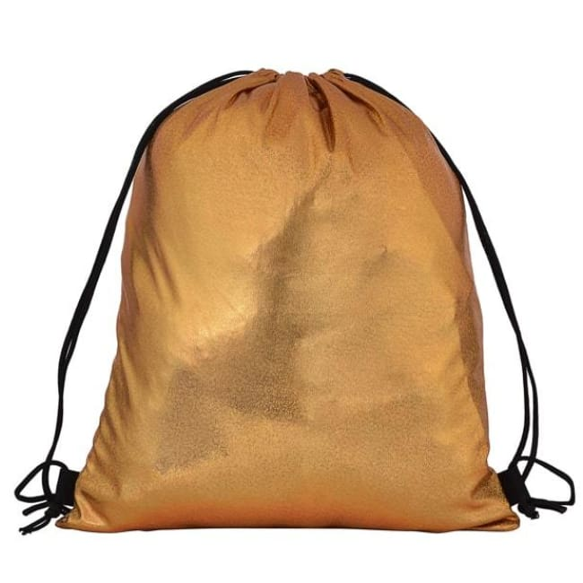 Gold Drawstring Bag - Bags