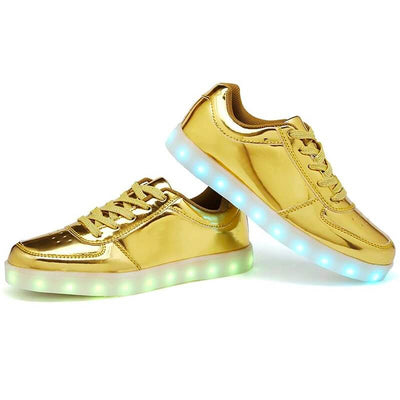 Flashez Gold LED Low Top Shoes