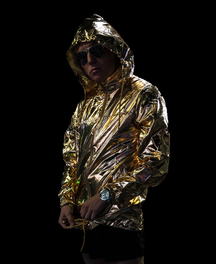 Gold Holographic Waterproof Jacket