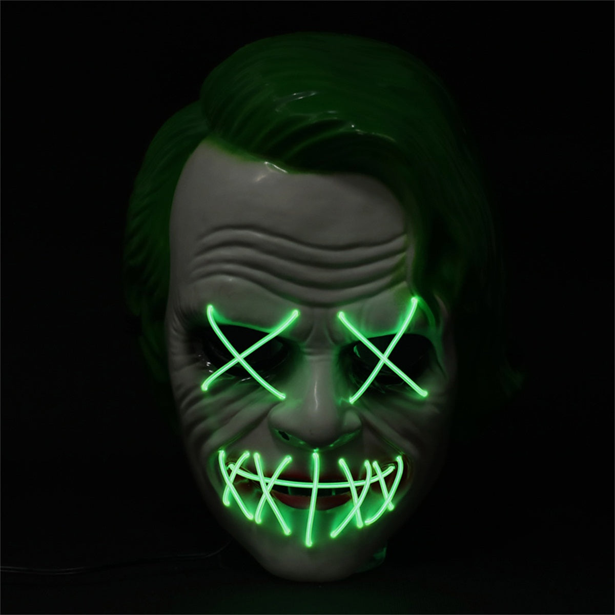 Green Joker LED Mask