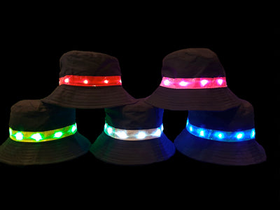 Light-up Black Bucket Hat