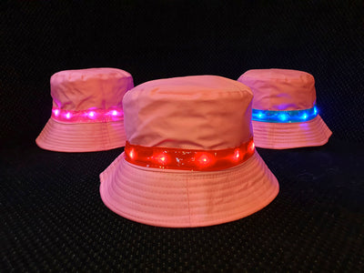 Light-up Pink Bucket Hat