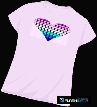 Pink Heart Light-up T Shirt