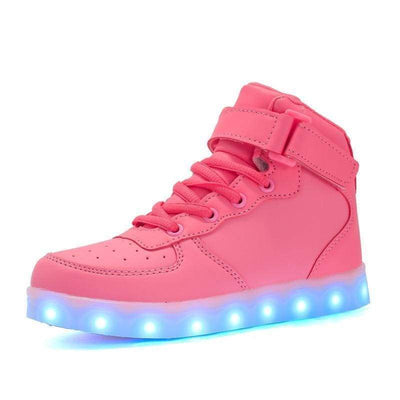 LED Shoes - Flash Wear High-Top Pinks