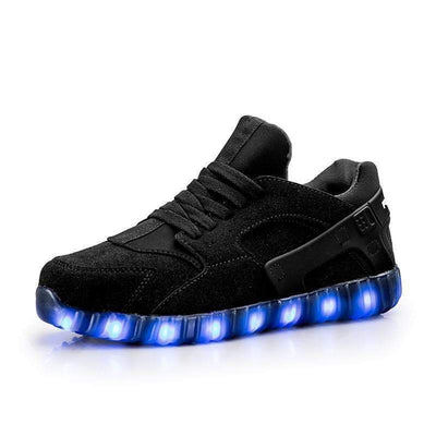 LED Shoes - Flashez Black Hurricanes