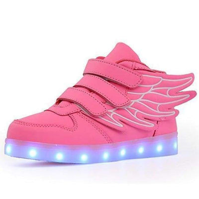 LED Shoes - Flashez Pink Kids  - LED Thunder Shoes