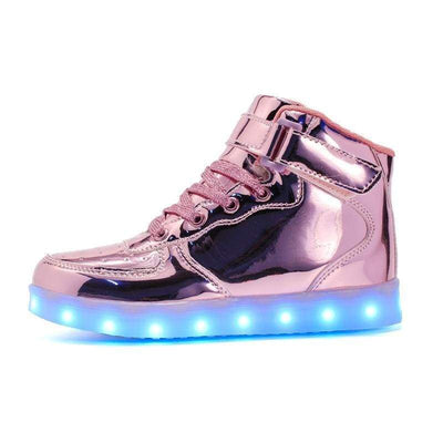 LED Shoes - Infants Rose Gold Shoes