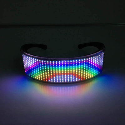 LED APP Controlled Equaliser Glasses
