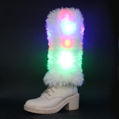 Leg Warmers - Light Up Furry Leg Warmers
