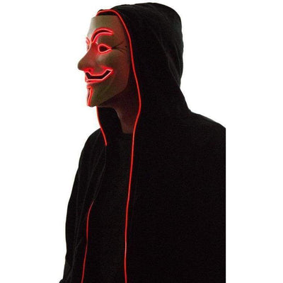 Masks - Light Up Anonymous Mask - Red