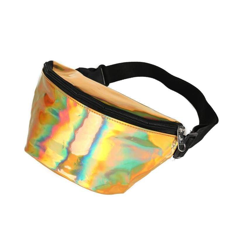 One Pouch Gold Holographic Bumbag