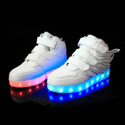 Flashez Kids White - LED Thunder Shoes