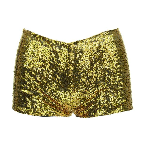 Sequin Hotpants - Gold Sequin Hotpants