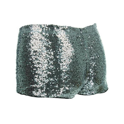 Sequin Hotpants - Silver Sequin Hotpants