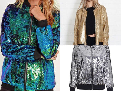 Sequin Jacket - Multicolour Sequin Hooded Jacket
