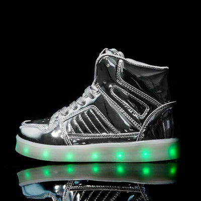 Flashez Silver LED V2 Hi-Tops