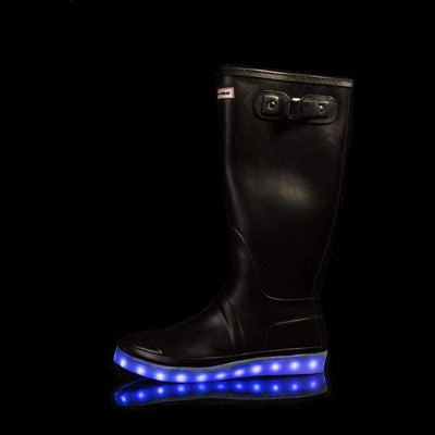 Wellies - Ladies Light Up Flashez Wellies - Black