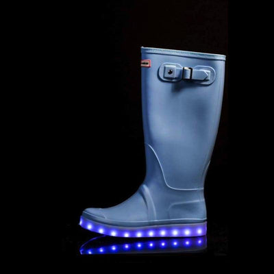 Wellies - Ladies Light Up Flashez Wellies - Candy Blue