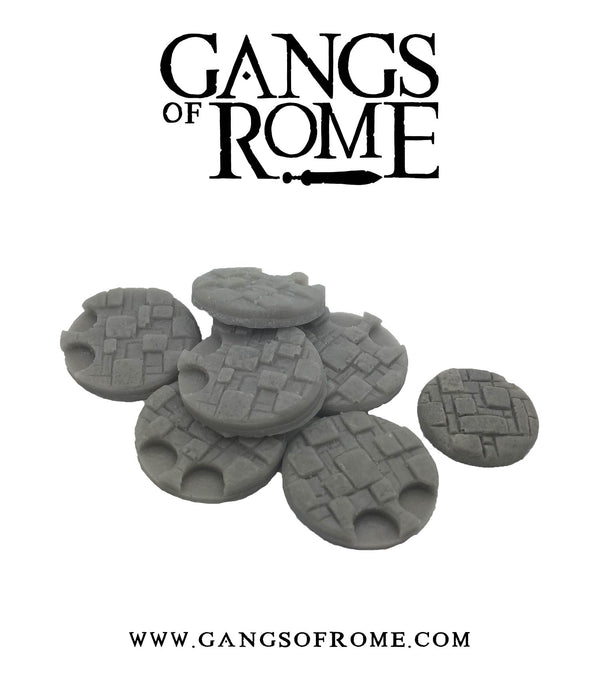 Resin Cobbled Bases for Blood on the Aventine (Pack of 7)