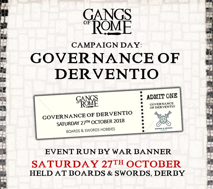 Event Ticket - Governance of Derventio, Derby 27th October 2018