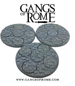Resin Cobbled Mob bases (Pack of 3)