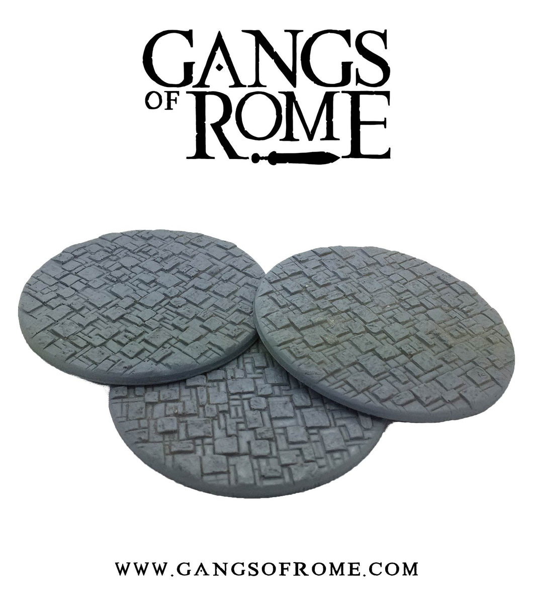 Resin Cobbled Integrated Mob bases (Pack of 3)