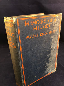 Walter De La Mare, Memoirs of a Midget, Collins 1921, 1st Edition