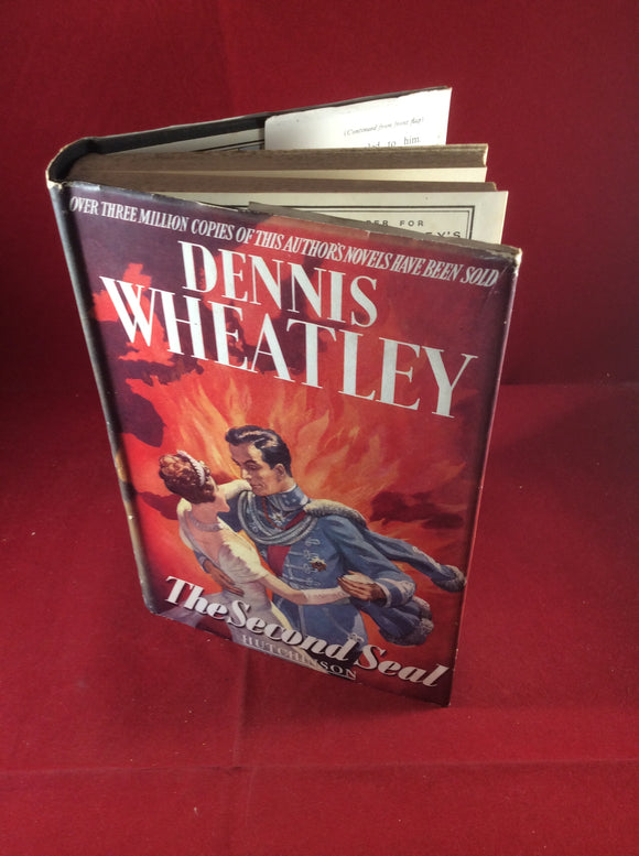 Dennis Wheatley, The Second Seal, Hutchinson, 1950, First Edition, Signed and Inscribed.