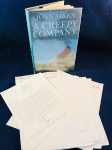 Joan Aiken - A Creepy Company, Victor Gollancz 1993, 1st Edition, Inscribed & Many interesting letters between Richard and Joan