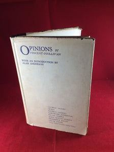 Vincent O' Sullivan, Opinions, Unicorn Press, 1959, First Edition, Signed and Inscribed by editor, Alan Anderson.