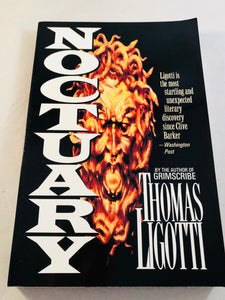 Thomas Ligotti - Noctuary, Carroll & Graf, 1995, 1st, Signed, Inscribed