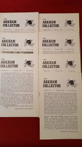 August Derleth copyright - The Arkham Collector, 1967 - 1971, 10 booklets