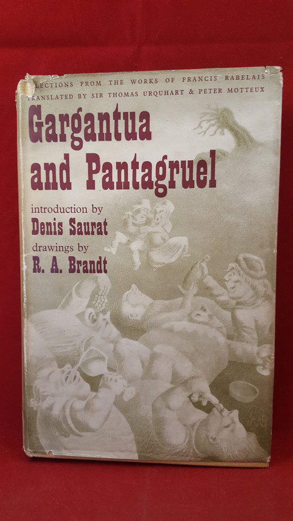 Intro Denis Saurat - Gargantua and Pantagruel, John Westhouse, 1945, 1st Edition