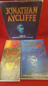 Jonathan Aycliffe - Box Set with Audio Cassette-Vanishment,Whispers In The Dark, Harper Collins, 1993, 1st, Signed