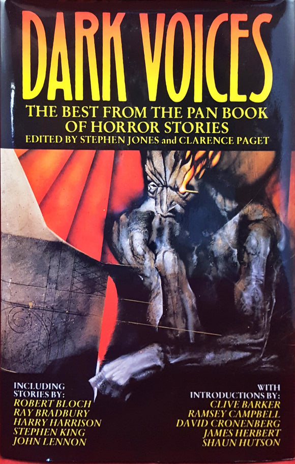 Stephen Jones & Clarence Paget  Editor - Dark Voices, Pan Horror, 1990, 1st Edition, multiple signings