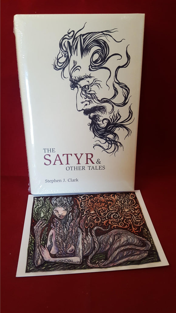 Stephen J Clark - The Satyr & Other Tales, The Swan River Press, Unopened, Signed postcard