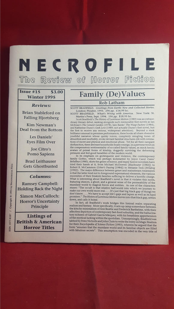 Necrofile - The Review of Horror Fiction, Issue 15, Winter 1995