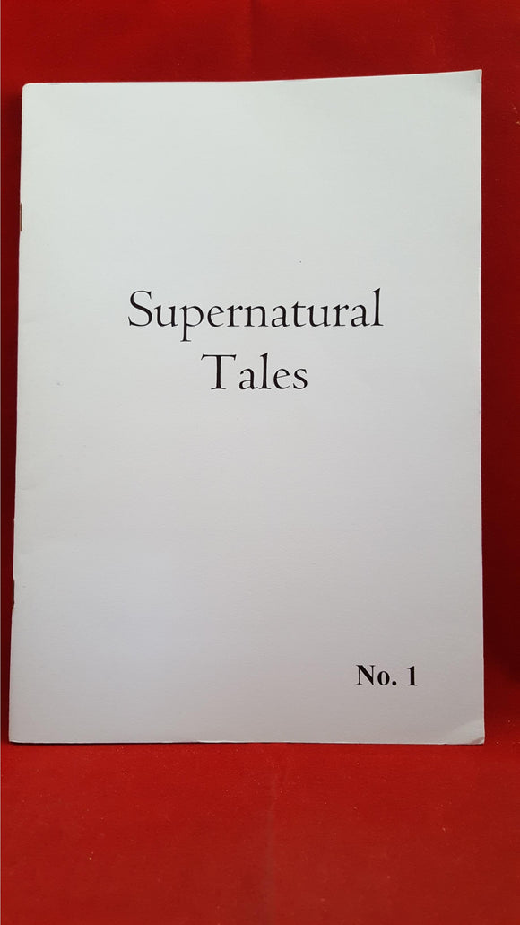 Supernatural Tales No. 1, First Issue, David Longhorn, 2001, 1st Edition