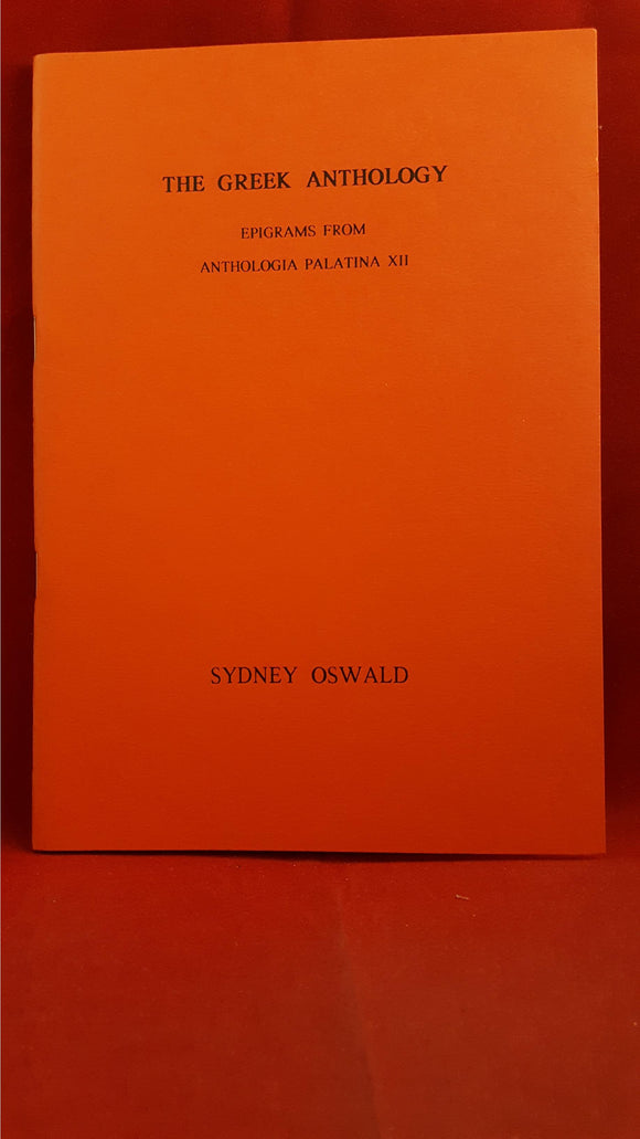 Sydney Oswald - The Greek Anthology, Hermitage, 1992, Limited