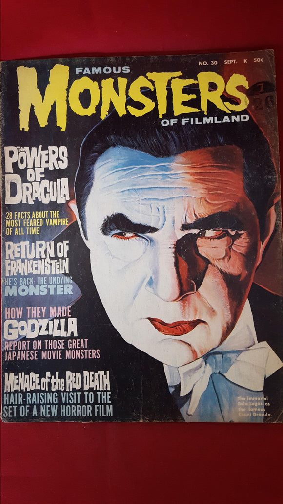 Famous Monsters Of Filmland Number 30 September 1964
