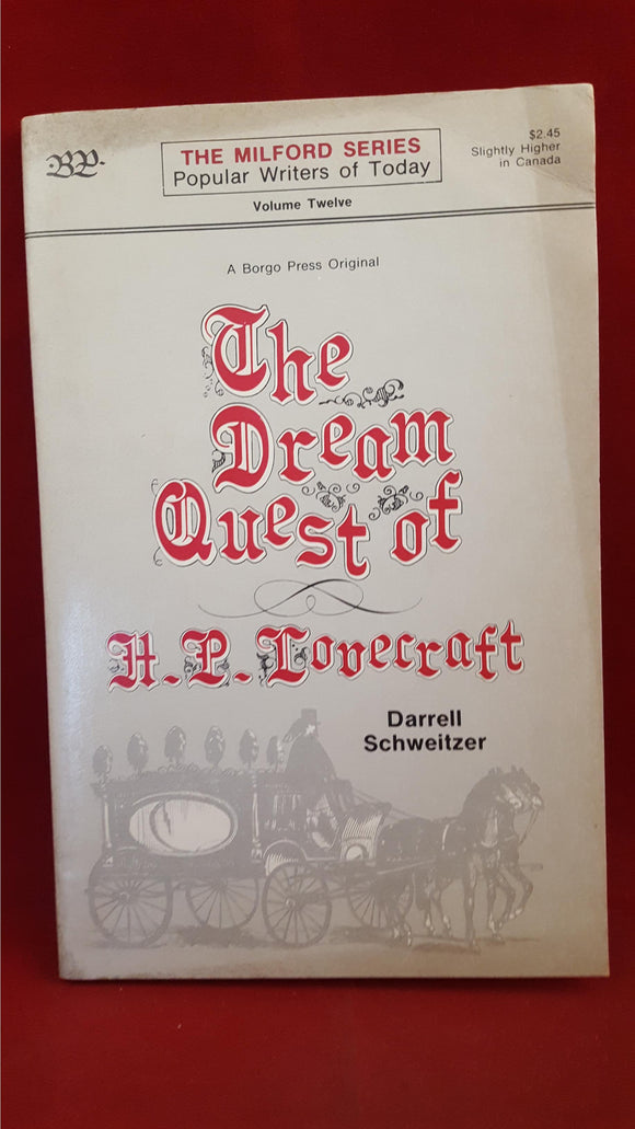 Darrell Schweitzer-The Dream Quest of H P Lovecraft, 1978, 1st Edition, Volume 12