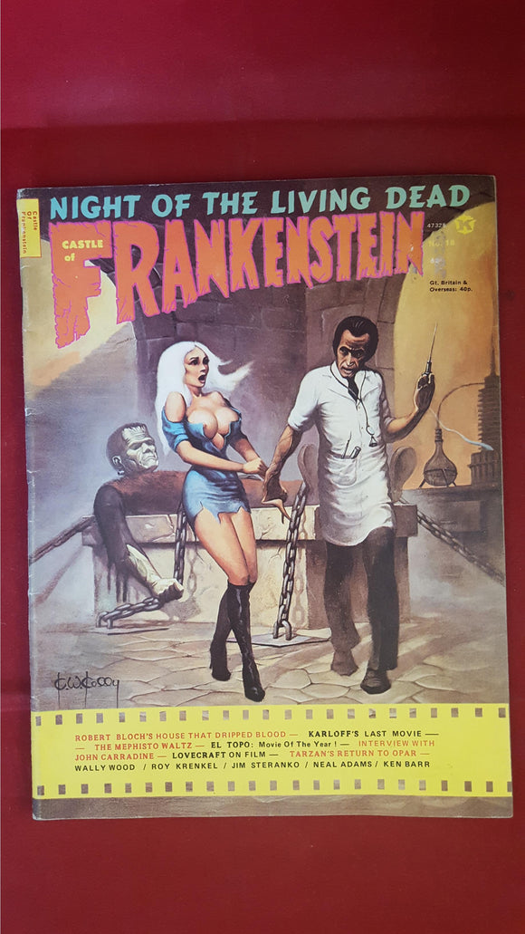Castle Of Frankenstein Volume 5 Number 2, 1972, Gothic Castle Publishing Co