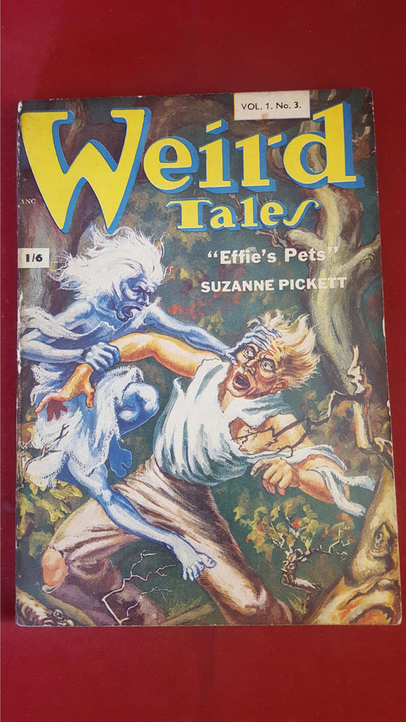 Weird Tales Vol 1, No. 3,  Strato Publications Ltd, British Edition