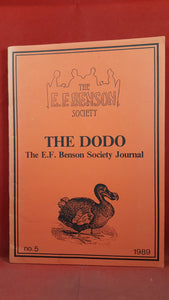 E F Benson Society - The Dodo Number 5 November 1989