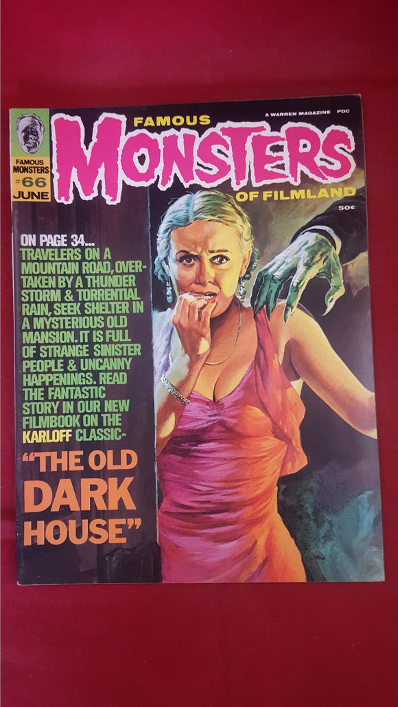 Famous Monsters Of Filmland Number 66 June 1970