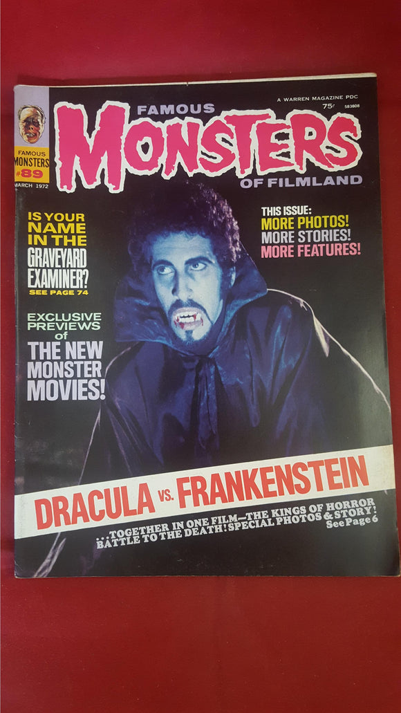 Famous Monsters Of Filmland Number 89 March 1972