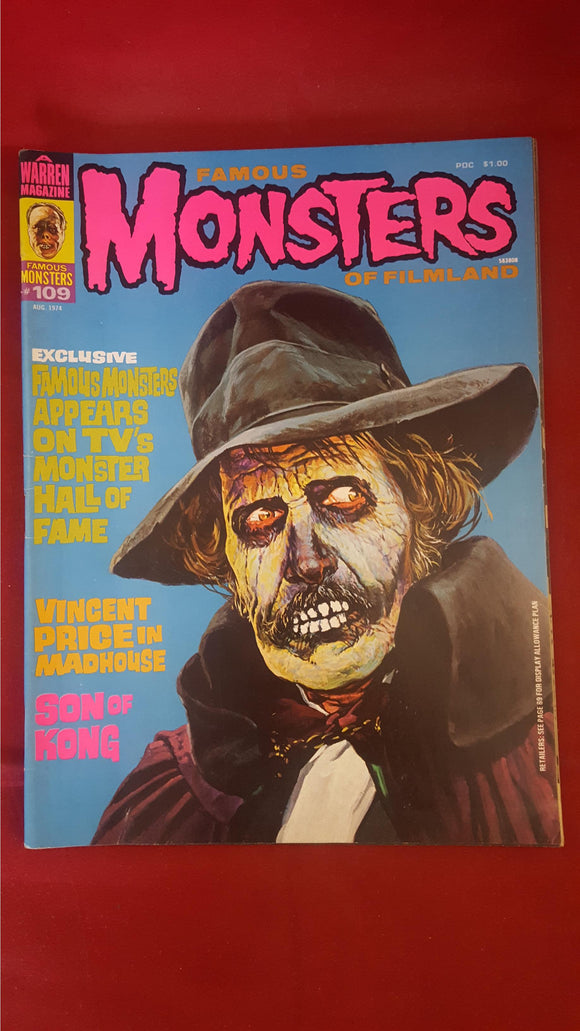 Famous Monsters Of Filmland Number 109 August 1974