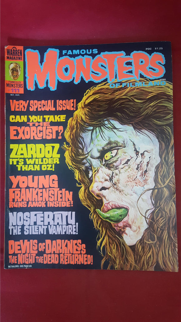 Famous Monsters Of Filmland Number 111 October 1974